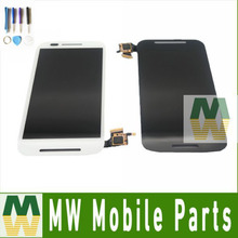 For Moto E XT1021 XT1022 XT1025 Black White LCD Display+Touch Screen Assembly Digitizer 1PCS/Lot with tools(China)