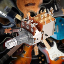 A500K Ohm Control Pot Electric Guitar Push Pull Ascend Bass Control Switch Pot Musical Instruments