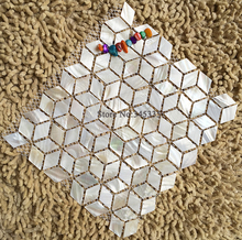 New Rhombus white shell mosaic tile mother of pearl bathroom kitchen TV background wall tiles mosaic wallpaper home improvement