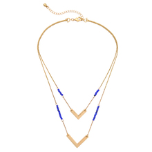 Blue Acrylic Beads Geometry Detachable Chain Fashion Perfume Women Perfume Multi Layer Necklace Cheap Handmade Hot Sale Jewelry
