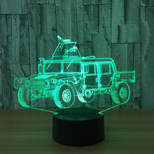 Novelty 3D LED Table Lamp Pickup Car Night Light Decor Kids Toys Gift Luminaria Cool Boy Bedroom Bedside Sleeping Light Fixture(China)