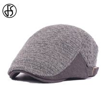 2017 Winter Style Knitted Warm Beret Hats Black Gray Unisex Gorras Planas Vintage Gatsby Newsboy Cap Flat Hats For Men And Women