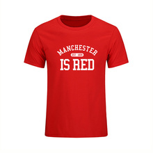 2017 Summer Style Men T Shirt United Kingdom Manchester Is Red Print Slim Fit 100% Cotton High Quality Hip Hop Style Streetwear