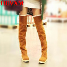 HEVXM2017 Winter Fashion Explosion Models Snow Boots Women Knee Heavy-Bottomed Shoes Female In Tube Tenis Feminino Zapatos Mujer