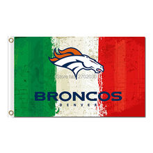 Denver Broncos Flag Red White Green 3ft X 5ft Polyester Banner 90x150cm World Series Super Bowl Champions Denver Broncos Banners(China)