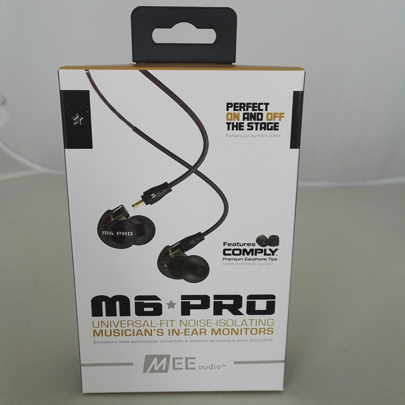 Ship in 24 hours MEE Audio M6 PRO Noise Canceling 3.5mm HiFi In-Ear Monitors Earphones with Detachable Cables Wired Headphones<br>