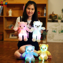 LED light-up toys Luminous Teddy Bear Glow light Plush Stuffed Doll Party Birthday Baby Kids Gift Home Room Shop Decoration(China)