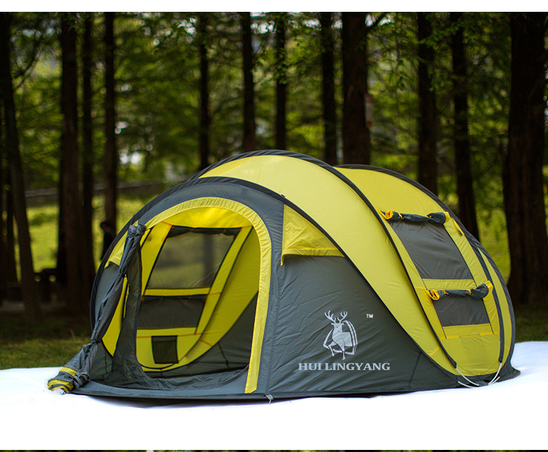 HYL camping pop up tent large 3-4 person windproof (12)