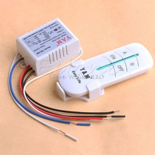 220V Wireless 2 Ways ON/OFF Lamp Remote Control Switch Receiver Transmitter #R179T#Drop Shipping