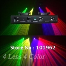 China laser projector 30mW Green + 100mW Red laser + 130mW Yellow laser + 100mW Violet laser disco light for party show(China)