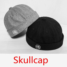 Men Fashion New Funny Caps Hip Hop Chinese Style Wool Hats Soft Top Harajuku Retro Wu Letter Skullcap IACB Store(China)