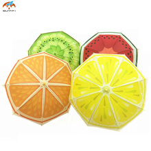 Cute Fruit Children Umbrella Creative Long-handled Manually Kids Umbrella For Boys Girls 2D(China)