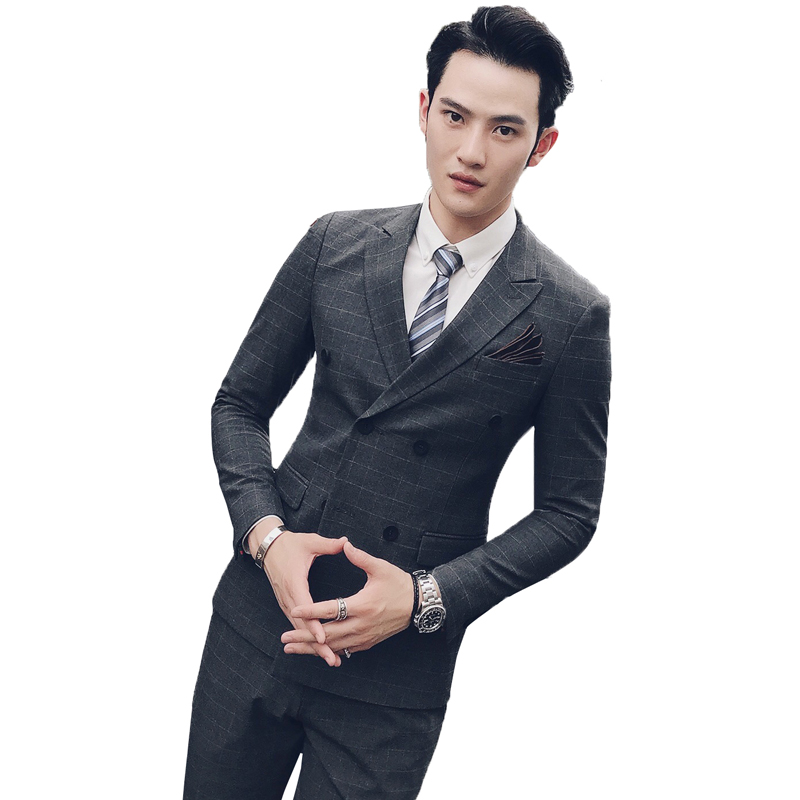 new Suits Men's suits gentleman three-piece suit 68 polyester cotton spandex SJT49 3 29 - P300