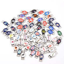 60pcs MLB Baseball Teams Logo Mixed Shoelace Charms For New Sneakers Sport Shoes Paracord Bracelets Decoration Jewelry