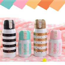 Mini Vacuum mug Bounce Cap Thermos Fashion Stainless Steel hot water bottle kids thermos Flask Small Cute Insulated travel Cups(China)