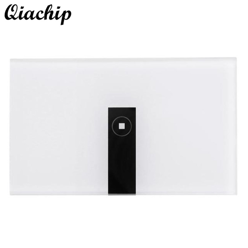 QIACHIP 1 Gang AC90-250V Smart Home Tempered Glass Wireless WIFI Remote Control Touch Sensor Switch Panel Work With Amazon Alexa<br>