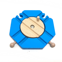 p075 Special rail accessory fork track 4 lane turntable rail compatible Thomas train wooden track children puzzle assembled toys