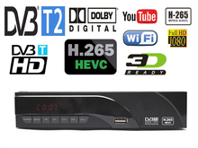 newest DVB-T2 digital receiver supports H.265/HEVC DTS Dolby AC3 youtebe DVB-T h265 hevc dolby dvb t2 dolby ac3 hot sale Europe(China)