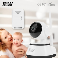BW HD Wireless IP Camera Wi-Fi 720P Two-Way Audio IR-Cut Night Vision PTZ WiFi Control Phone Remote Monitoring Supported