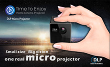 2016 Original UNIC P1 Handheld Micro DLP LED Home Theater Projector Mini Projector Battery Build-in with TF micro SD card slot