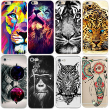 white lion For Iphone X 8 4 4S 5 5S SE 5C 6 6s 7 Plus Case Coque Back Cover