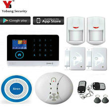YobangSecurity Wireless GSM WIFI Home Security Burglar Alarm System Kit Auto Dialing Dialer Android iOS APP Wireless Siren(China)
