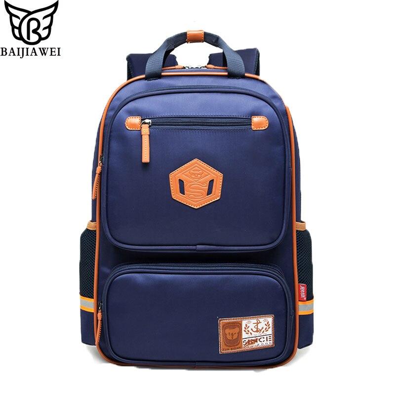 BAIJIAWEI Grades 1-6Orthopedic Children Primary School Bags Kids Backpack For Teenagers Boys Girls Mochila Schoolbags Satchel<br><br>Aliexpress