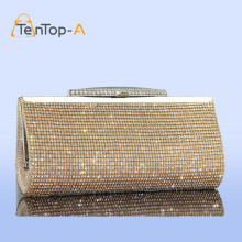 TenTop-A Factory Selling Good Quality Women Full Diamond Clutch Evening Bag Luxury Rhinestone Bling Wedding Bridal Shoulder Bags(China)