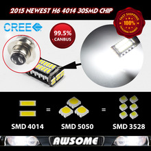 Best Price!! 2x H7 Chips 30Led 4014 SMD CANBUS Car Fog DRL Driving Headlight 1000LM White Fast Shipping W/ Tracking No.