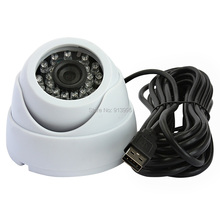 White mini indoor dome ir led night vision H.264 &MJPEG&YUY2 surveillance cameras for store in public places(China)