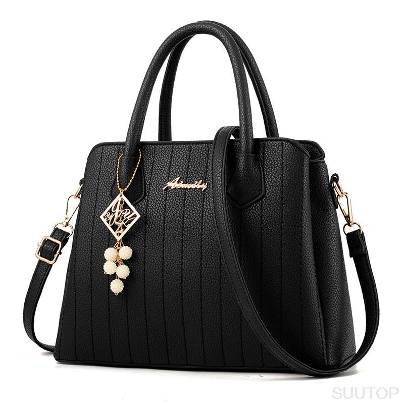 suutoop lady big totes bag women shoulder messengerleather pu handbag crossbody bag with nice belt and bead bolsos mujer<br><br>Aliexpress