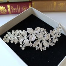 alloy rinestone bride frontlet crown Indian headpiece wedding hair accessories bijoux cheveux(China)