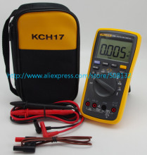 FLUKE 17B+ Digital multimeter Tester DMM with TL75 test leads +Soft case kch17 F17B+(China)