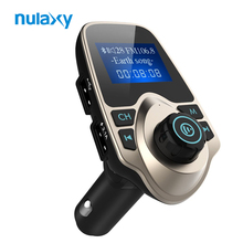 Nulaxy Bluetooth FM Transmitter Audio Car Mp3 Player Wireless In-Car FM Modulator Handsfree Bluetooth Car Kit with LCD Display(China)