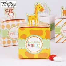FENGRISE 20pcs Circus Animal Paper Candy Box Birthday Party Decorations Kids Baby Shower Goodie Bag Gift Cupcake Chocolate Box