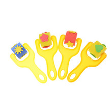 1PCS Kids Toys DIY Drawing Sponge Painting Roller Brush Sponge Painters Brush Set(China)