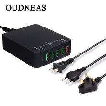 Buy OUDNEAS EU US UK Plug Home Travel Charger Wall Power Adapter 6 Ports USB Socket iPhone/Samsung/HTC/LG/iPad for $26.70 in AliExpress store