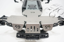 Stainless chassis plate protection anti crash + Suspension arm plate for Thunder Tiger MT4 G5