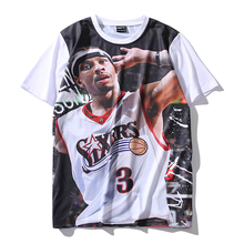PLstar Cosmos 2017 summer new fashion Men Women Short sleeve T-shirts Hall of Fame star Allen Iverson 3d print cotton t shirts