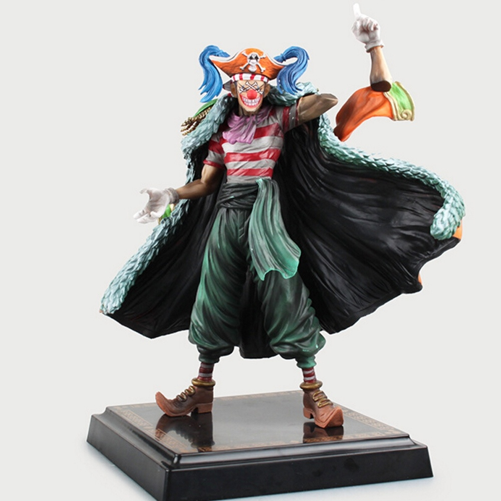 24CM Japanese Anime One Piece Buggy Action Figure Joker pvc Collection Model Toys<br>