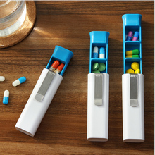 1PCS Pill Storage Box Compact Portable 3 sections Kit Medicine Box Drugs for Travel E(China)