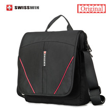 Swisswin Men Messenger Bag Brand Casual Women Shoulder Bag Small Black Satchels Crossbody Waterproof Zipper Bag(China)