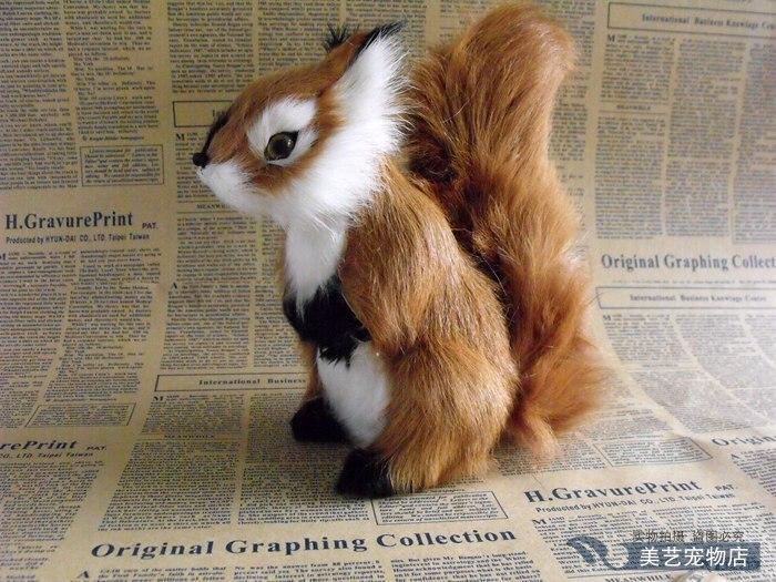 simulation squirrel large 20x10x18cm model,polyethylene&amp; fur handicraft toy prop,home decoration Xmas gift b3760<br><br>Aliexpress