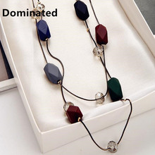 Dominated Women Simple Elegance Necklace Accessories Pendant Long Double Sweater Chain(China)