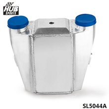 "Hubsports - UNIVERSAL ALUMINUM WATER TO AIR TURBO INTERCOOLER FMIC 13.3"" x12""X4.5"" Inlet/Outlet: 3"" HU-SL5044A"