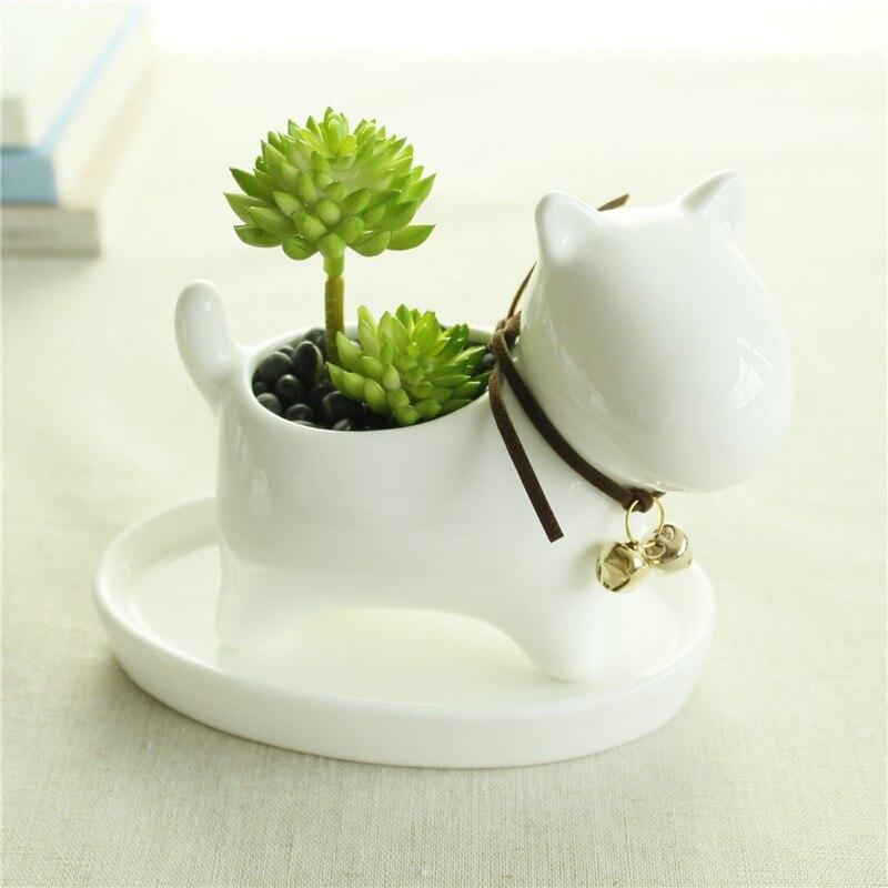 Cute Animal Potted Flowers Gardening Succulents Planter Pot White Ceramic Flowerpot Lovely Animal Succulent Plants Flowerpot 14