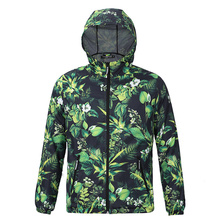 2017  Men Causal Hooded 3D Print Weed Letter Windbreaker  Hip Hop Waterproof Windbreaker Men Coat Brand Coat