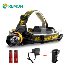 LED Headlamp 2*Q5 2000LM Headlight Flashlight 4 Model Torch Lights with Car Charger+18650 Battery US/EU charger head flashlight