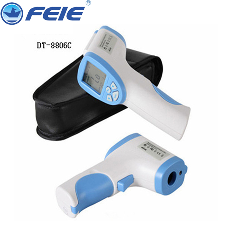 Digital Non-Contact IR Laser Temp Gun Baby/Adult Infrared Thermometer Body Temperature Tester LCD Backlight DT-8806C<br>