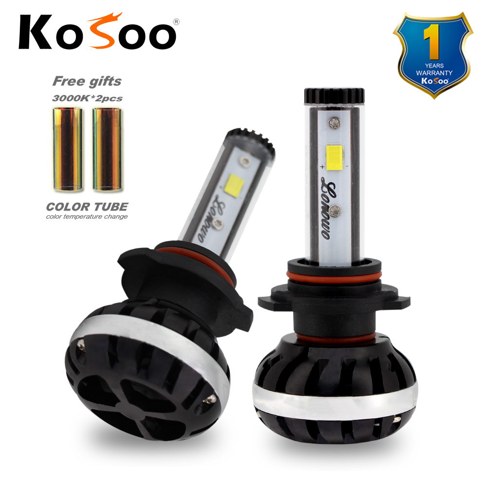 KOSOO 9012 (HIR2) Car lonowo LED Headlight 72W 6500K 8000lm Universal Fit Automobile Headlamp Car LED light Color diy change(China)